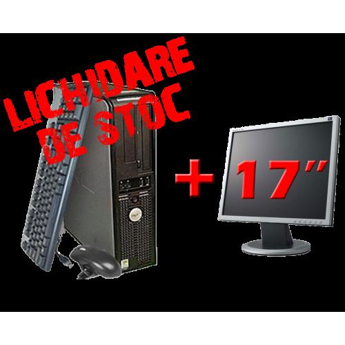 Calculator SH Dell OptiPlex 745, Core2 DUO E6300, 1.83Ghz, 1Gb DDR2, 80Gb, DVD-ROM cu Monitor 17 Inch***