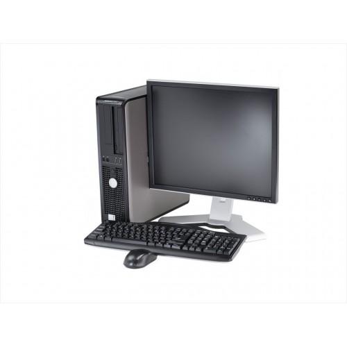 PACHET  Dell Optiplex 330 Desktop, Dual Core E5800 3.20Ghz, 2Gb DDR2, 160Gb DVD-ROM cu Monitor LCD
