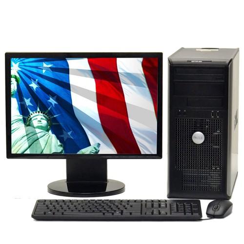 Calculator Dell OptiPlex 745, Intel Core 2 Duo E4600  2.40GHz, 2GB DDR2, 160GB HDD, DVD-ROM cu Monitor LCD ***