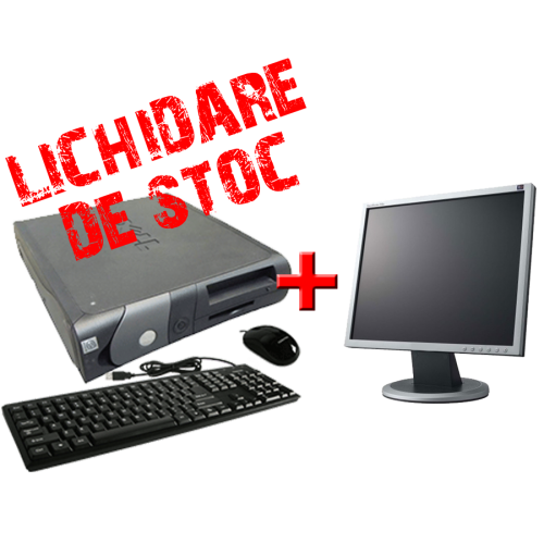 Calculator  Dell OptiPlex GX60, Intel Celeron, 2.4GHz, 512Mb DDR, 40GB HDD, DVD-ROM cu Monitor 17 inch ***