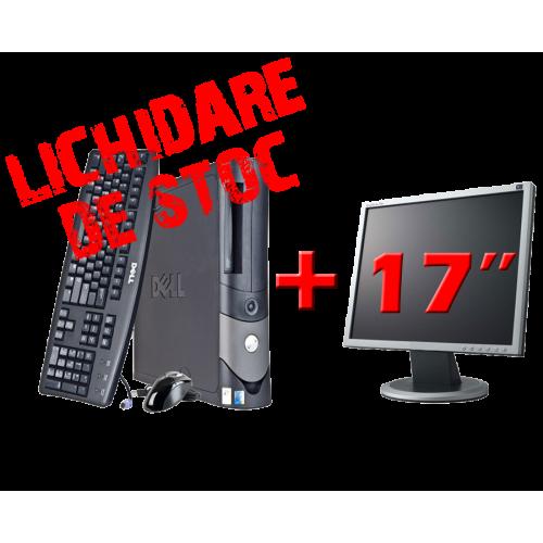 Oferta Pachet  Dell OptiPlex GX60, Intel Celeron, 2.6GHz, 512Mb DDR, 40GB HDD, DVD-ROM cu Monitor 17 inch ***