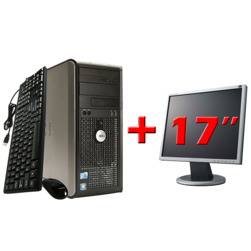 Pachet Calculator Dell Optiplex 760 Tower, Core 2 Duo E8500 3.16GHz, 2Gb DDR2, 160Gb HDD, DVD-RW cu Monitor 17 Inch ***