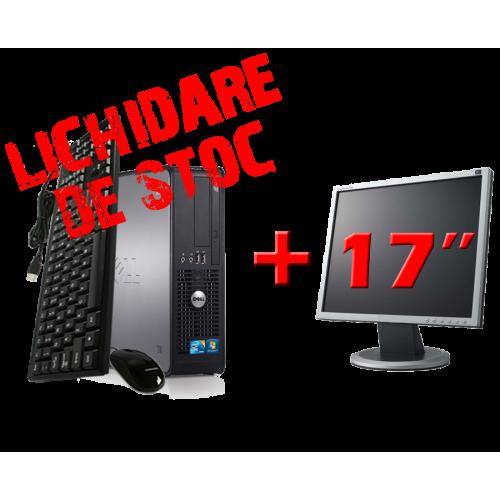 PC Calculator SH Dell Optiplex 780 SFF, Core 2 Duo E7500 2.9Ghz, 2Gb DDR3, 80Gb, DVD-RW cu Monitor 17inch  ***