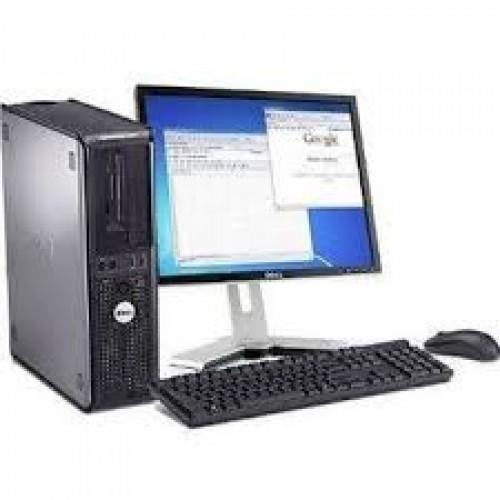 Dell Optiplex GX760 Desktop, Core 2 Duo E8500, 3.16Ghz, 2Gb DDR3, 160Gb, DVD-RW cu Monitor LCD ***