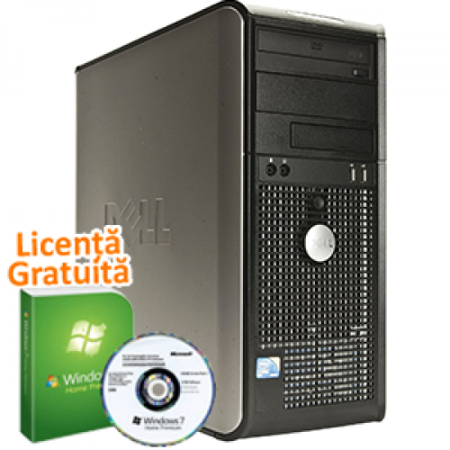 PC Refurbished Dell Optiplex 760, Intel Core 2 Quad Q6600 2.4Ghz, 4Gb DDR2, 250Gb HDD, DVD-RW + Windows 7 Premium