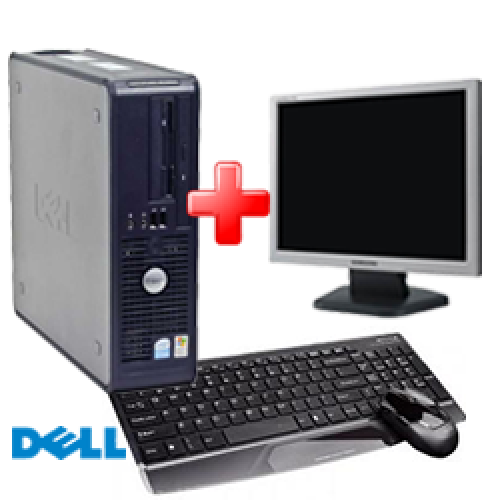 Pachet Dell Optiplex 320, Intel Core 2 Duo E6300, 1.86Ghz, 2Gb DDR2, 80Gb SATA, DVD-ROM + Monitor LCD ***