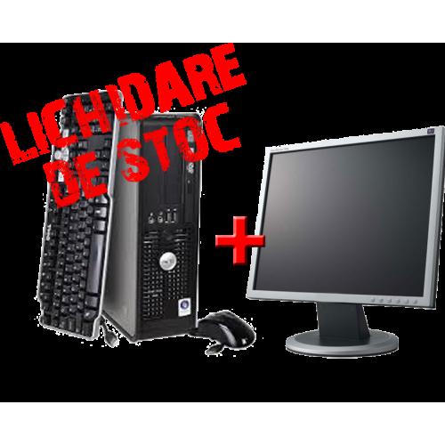 "Dell Optiplex 740 Dual Core AMD X2 2350+, 2Gb DDR2, HDD 80Gb, DVD-ROM cu Monitor 17"" ***"