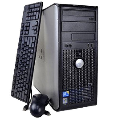 PC Dell Optiplex GX755, Tower, Intel Core 2 Duo E7400, 2.80Ghz, 2GB DDR2, 160GB HDD, DVD-RW