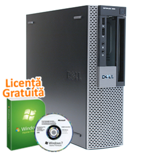 Calculator Ieftin Dell OptiPlex 960 SFF, Intel Core 2 Duo E8400, 3.0Ghz, 4Gb DDR2, 250Gb, DVD-ROM + Win 7 Professional