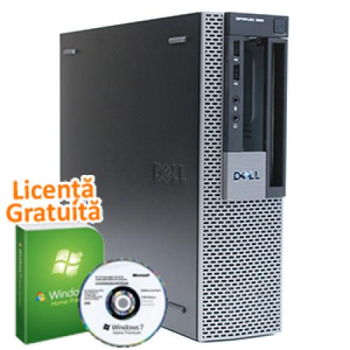 Calculator Ieftin Dell OptiPlex 960 SFF, Intel Core 2 Duo E8400, 3.0Ghz, 4Gb DDR2, 250Gb, DVD-ROM + Win 7 Professional