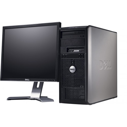 Pachet PC SH Dell OptiPlex 360 Tower, Intel Core 2 Duo E6300 1.87Ghz,  2GB DDR2, 160GB HDD, DVD-RW cu monitor LCD