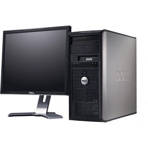 Pachet PC SH Dell OptiPlex 360 Tower, Intel Core 2 Duo E6300 1.87Ghz,  2GB DDR2, 160GB HDD, DVD-RW cu monitor LCD
