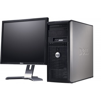 Pachet PC+LCD Dell Optiplex 780 tower, Core 2 Duo E8400 3.0Ghz, 4Gb DDR3, 250Gb, DVD