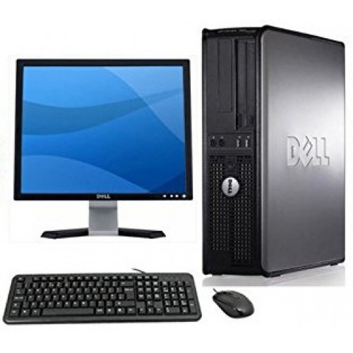 Pachet PC+LCD Dell Optiplex 780 Desktop, Intel Quad Core Q6600 2.40GHz, 4GB DDR3, 250GB SATA, DVD-ROM