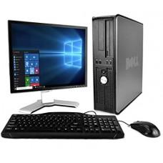 Pachet PC+LCD Dell Optiplex 780 Desktop, Core 2 Duo E8500 3.16Ghz, 2Gb DDR3, 160Gb, DVD-RW