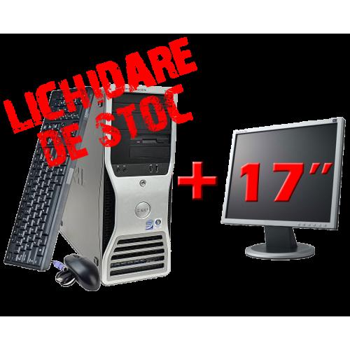 Workstation Dell Precision 390, Core 2 Duo E6600, 2.4Ghz, 2Gb DDR2,80Gb HDD, DVD-RW cu Monitor 17 inch ***
