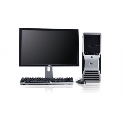 DELL Precision T5500, Intel Xeon Quad Core e5520, 2.26Ghz, 8GB DDR3 FBD, 250Gb HDD, DVD cu Monitor 15 inch LCD