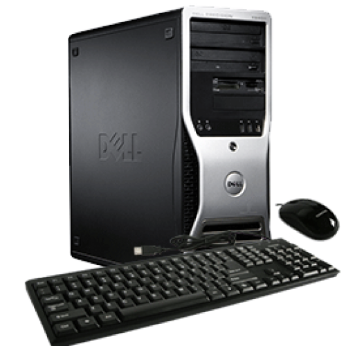 Workstation SH Dell Precision 390, Intel Core 2 Duo E6300, 1.86Ghz, 4Gb DDR2, 160Gb HDD, DVD-ROM,  Nvidia 256MB