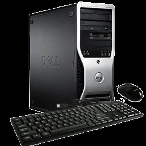 Workstation DELL Precision T5400, Intel Xeon Quad Core E5450, 3.00GHz, 4Gb DDR2 FBD, 250Gb SATA, DVD-ROM, NVIDIA Quadro FX 380