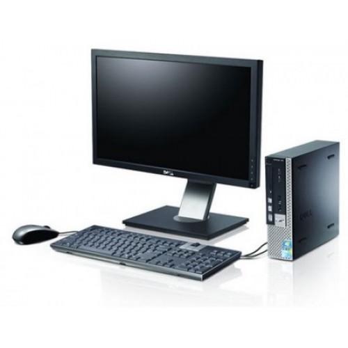 PACHET Calculator Dell Optiplex 780 Desktop, Intel Core 2 Duo E6750, 2.66Ghz, 2Gb DDR2, 160Gb HDD, DVD cu Monitor LCD