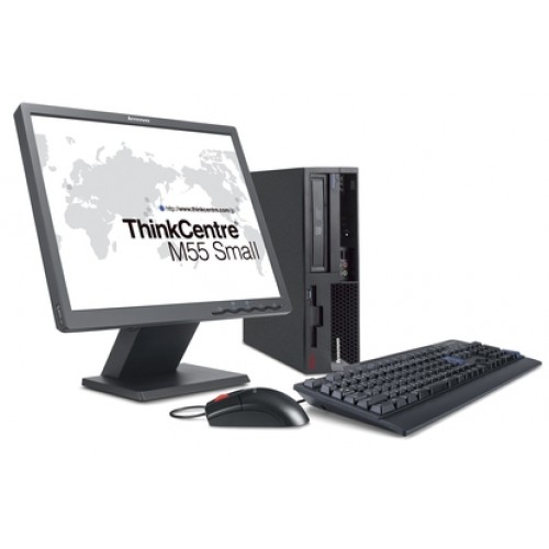 Pachet PC Lenovo ThinkCentre M55 Desktop, Core Duo E2160, 1.80Ghz, 2GB DDR2, 80GB HDD, DVD-ROM cu monitor LCD