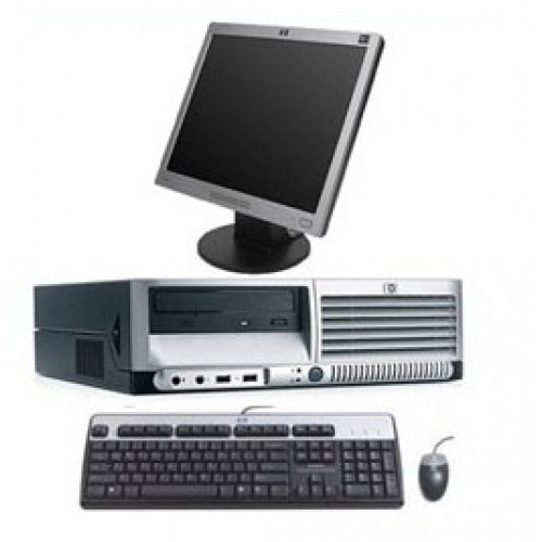 Unitate PC HP Compaq DC7600 Desktop Pentium 4, 3.20GHz, 2Gb DDR2, 80Gb, DVD-ROM cu monitor LCD