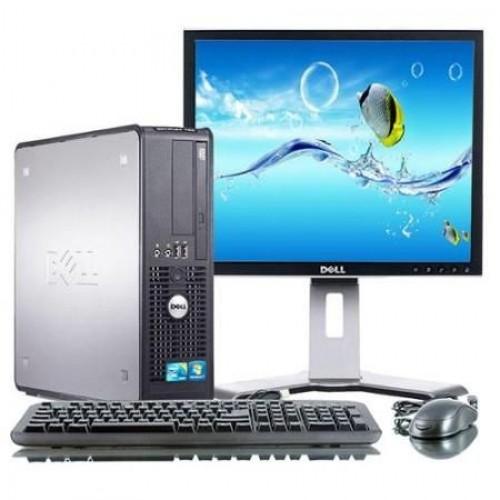 Calculator Dell Optiplex 360 Desktop, Core 2 Duo E8200 2.66Ghz, 2Gb DDR2, 160Gb, DVD-RW cu Monitor LCD