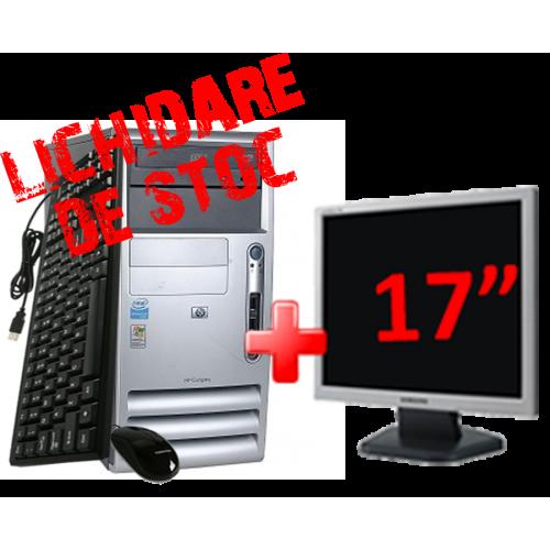 "Calculator Hp DX2000 Intel Celeron D, 2.6Ghz, 80Gb, 1024Gb, DVD-ROM cu Monitor 17"" ***"