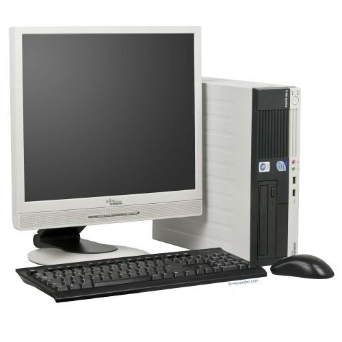 Fujitsu Siemens E5600, AMD SEMPRON 3000+, 1.8Ghz, 1GB, 40GB, DVD-ROM cu Monitor LCD