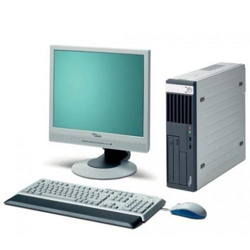 Calculator Fujitsu Esprimo E5720, Intel Dual Core E2160, 1.8Ghz, 2Gb, 160Gb, DVD-ROM cu Monitor LCD 15 inch