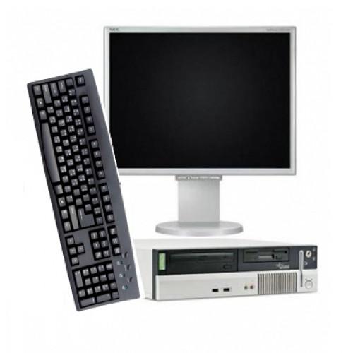 Calculator Fujitsu Scenic E620, Pentium 4, 2.8Ghz, 1Gb, 40Gb HDD, DVD-ROM cu Monitor 15 inch LCD***