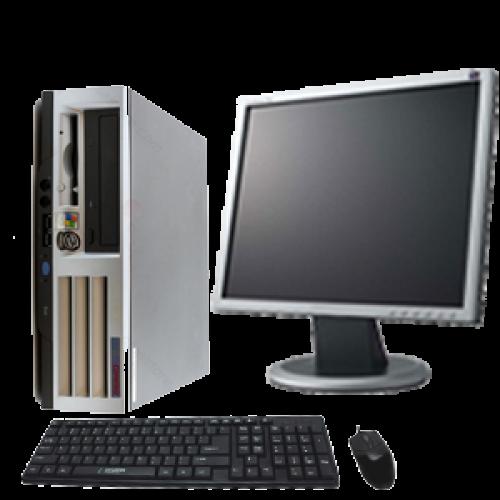 PC Second Hand HP Compaq D510, Intel Pentrim 4, 2.40Ghz, 2Gb DDR, 40Gb HDD, DVD-ROM cu Monitor LCD ***