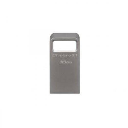Stick memorie Kingston 16GB DTMicro USB 3.1-3.0 Metal Ultra Compact
