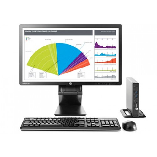 Calculator HP Elitedesk 800 G1 Desktop, Intel Core i5-4590, 3.3Ghz, 4Gb DDR3, 250Gb HDD, DVD-RW  cu Monitor LCD ***