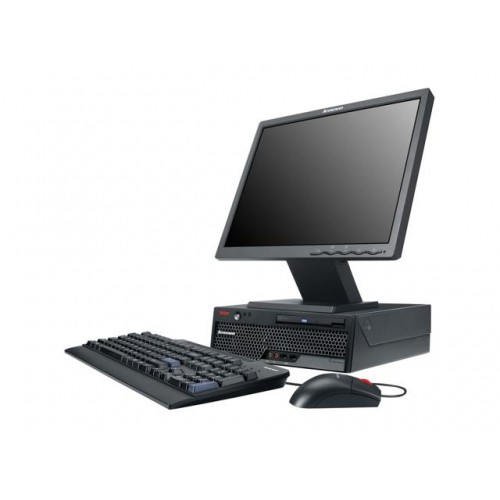 Pachet PC+LCD Lenovo ThinkCentre M58 Desktop, Intel Core 2 Duo E8400, 3.0Ghz, 2Gb DDR3, 160Gb HDD, DVD