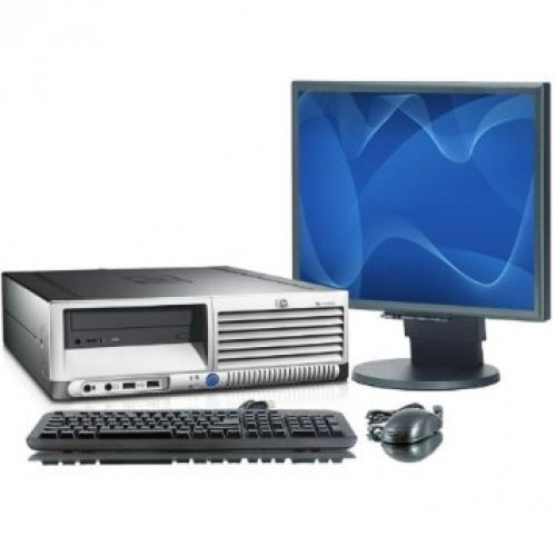 Computer Second Hand HP Compaq DC7600 Pentium D, 2.8GHz, 2Gb DDR2, 160Gb, DVD-ROM cu Monitor LCD