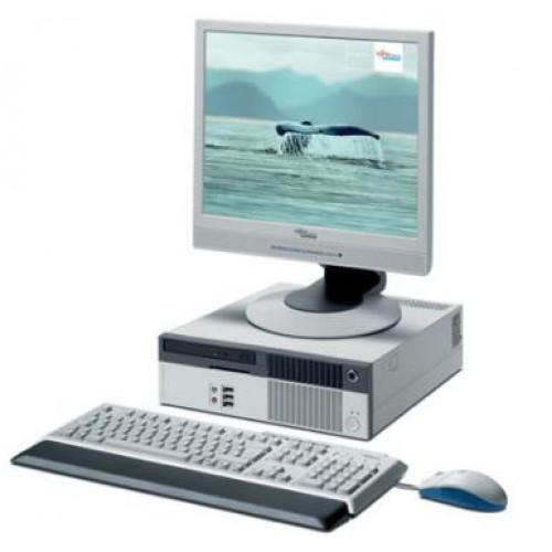 PC SH Fujitsu Esprimo C5900 USFF, Intel Pentium 4, 2.80Ghz, 1Gb DDR2, 40Gb HDD, DVD-ROM cu Monitor LCD
