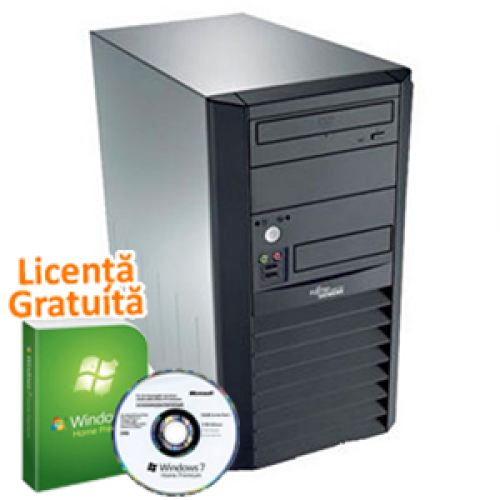 Fujitsu Esprimo P2511, Intel Dual Core E2160 1.8Ghz, 1Gb DDR2, 160Gb HDD, DVD-ROM + Windows 7 Windows 7 Professional