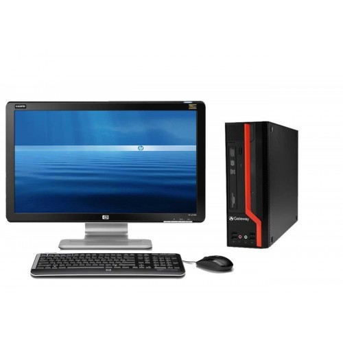 Pachet PC+LCD Gateway D510G SFF, Intel Core 2 Duo E8400 3.0GHz, 4Gb DDR3, 250Gb SATA, DVD-RW