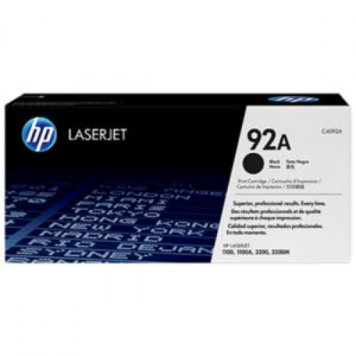 Cartus toner HP 92a Black, C4092 2500 pagini, Original