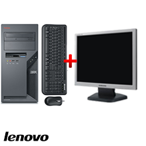 PC Lenovo ThinkCentre 9389, Tower, Core 2 DUO E6300, 1.87 GHz, 2GB DDR, 80GB HDD, DVD-ROM + Monitor LCD ***