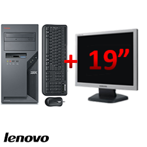 PC Lenovo ThinkCentre 9389, Tower, Core 2 DUO E6300, 1.87 GHz, 2GB DDR, 80GB HDD, DVD-ROM + Monitor LCD 19 inch ***