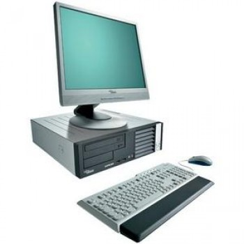 Oferta Pachet PC+LCD Fujitsu E3510, Desktop, Intel Core 2 Duo E7400 2,8Ghz, 2Gb DDR2, 160Gb HDD, DVD-RW