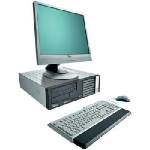 Oferta PACHET Fujitsu E3510 Intel Core 2 Duo E7400 2,8Ghz, 2Gb DDR2 , 160Gb HDD, DVD-RW cu Monitor LCD ***