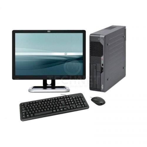 Pachet Fujitsu Esprimo E5730 Desktop, Intel Core Duo  E5200 2,5Ghz, 4Gb DDR2 , 160Gb SATA, DVD-ROM cu Monitor LCD ***