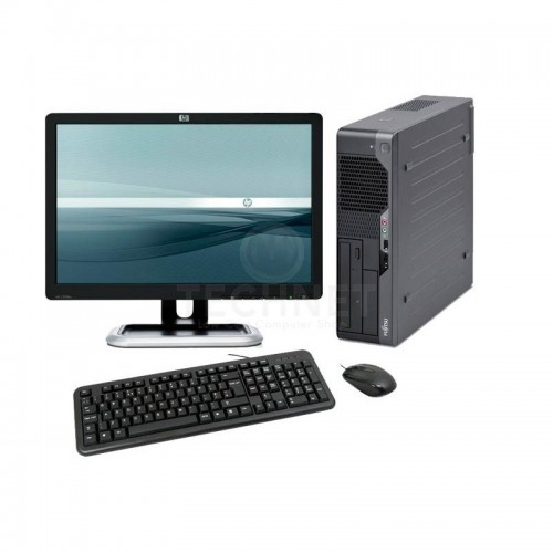 PC Fujitsu E5730 Core 2 Duo E8500 3.16GHz 4GB DDR3 160GB HDD Sata DVD-ROM cu Monitor LCD