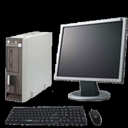 Calculator Fujitsu N600 , Intel Celeron 2,6Ghz ,1Gb DDR , 120Gb HDD, DVD + Monitor LCD ***