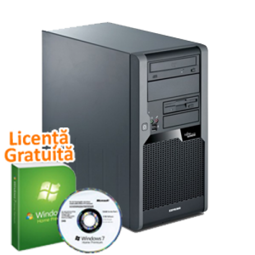 PC Fujitsu P5645, AMD Sempron 1.4 Ghz, 2Gb DDR3, 160Gb SATA, DVD-RW,  Windows 7 Premium