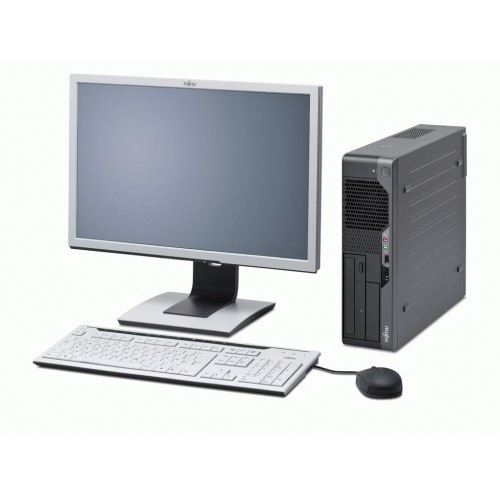 PC Fujitsu Esprimo E5731 Desktop Intel Core Duo E7500 2.93GHz, 4Gb DDR3 , HDD 250Gb SATA, DVD-RW cu monitor LCD
