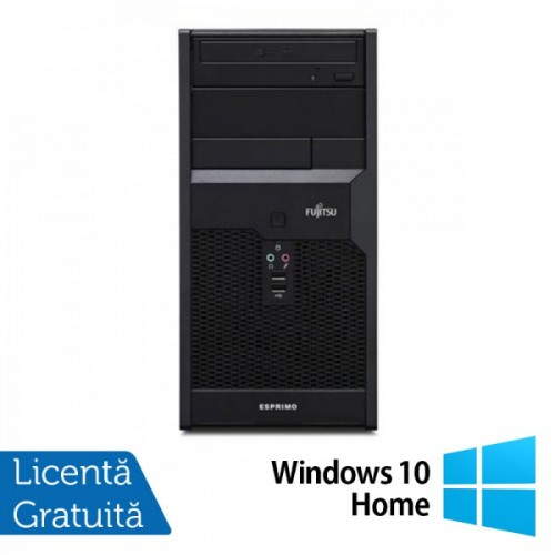 Fujitsu P3721 Tower, Intel Core i3-540 3.06Ghz , 4Gb DDR3, 250GB SATA, DVD-RW + Windows 10 Home